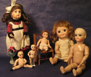 A few of the dolls I made.